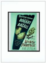 Lauren Bacall & Bruce Bennett Signed Photo - Dark Passage